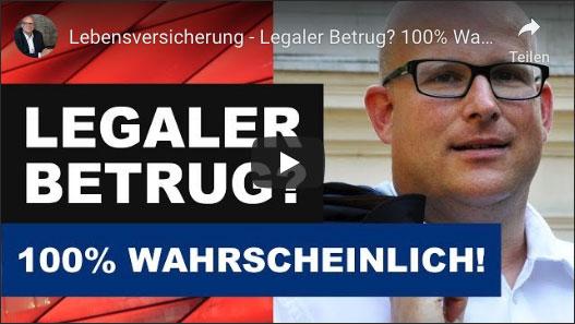 Daniel Sauer: Lebensversicherung - Legaler Betrug - 100% Wahrscheinlich